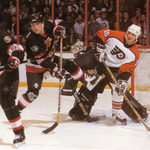 John LeClair - Philadelphia Flyers & Sean Hill - Ottawa Senators